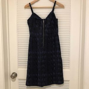 Barneys New York CO-OP Navy Silk Dress - size S